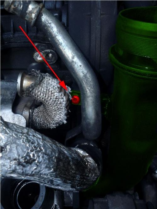 Замена прокладки выпускного коллектора передней  ГБЦ  Peugeot  2.7 HDI